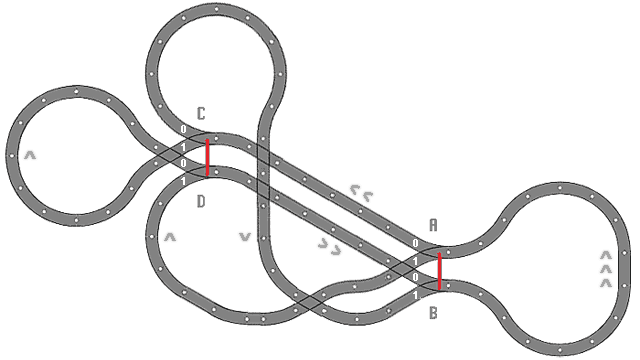 Duplo track plan